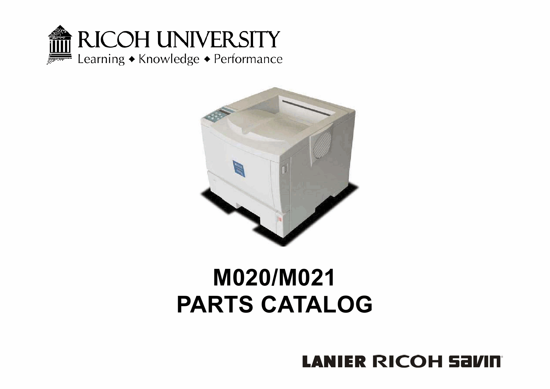 RICOH Aficio SP-5200DN 5210DN M020 M021 Parts Catalog-1